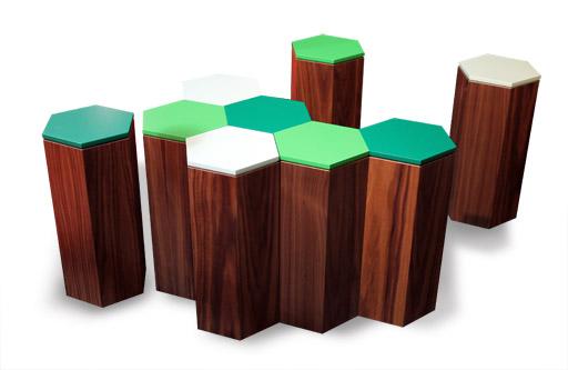 hexagone table basse d structur e la fabrique. Black Bedroom Furniture Sets. Home Design Ideas