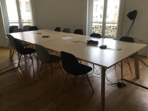 Tables de coworking Y.E.S